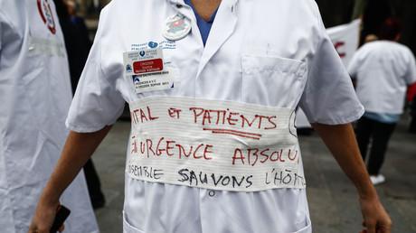 Manifestation de personnels soignants, à Paris, le 26 septembre 2019.