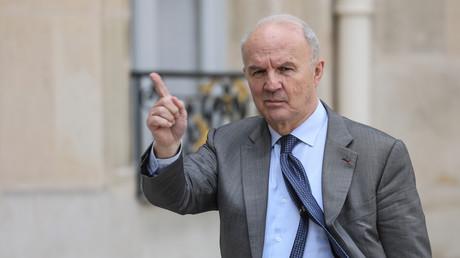 Le général de l'armée française Jean-Louis Georgelin, chargé de la reconstruction de la cathédrale Notre-Dame, au palais présidentiel de l'Elysée le 29 mai 2019 à Paris.