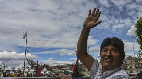 L'ex-président bolivien Evo Morales à Mexico, le 13 novembre 2019.