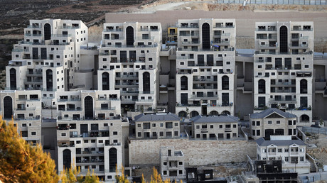 Travaux de construction en cours dans la colonie israélienne de Givat Zeev, près de la ville palestinienne de Ramallah, en Cisjordanie occupée (image d'illustration).