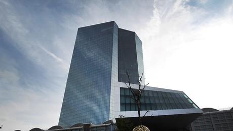 La Banque centrale européenne, dont le siège se trouve à Francfort en Allemagne, est accusée Outre-Rhin de ruiner les petits épargnants par sa politique d'argent facile via une baisse des taux directeurs jusqu'en territoire négatif (photographie d'illustration prise en octobre 2019).