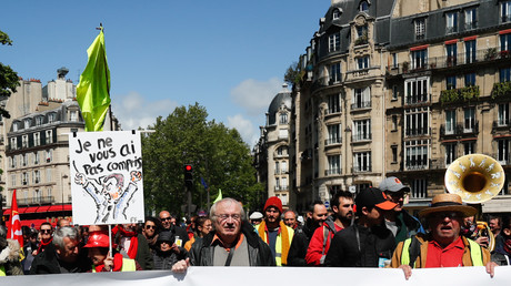 Des manifestants protestent contre la suppression de l'ISF, le 27 avril 2019. (image d'illustration)