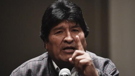 L'ancien président bolivien Evo Morales lors d'une conférence de presse à Mexico, le 20 novembre 2019, au Mexique (image d'illustration).
