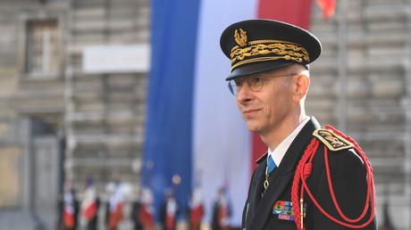 Le préfet de police de Paris Didier Lallement lors de sa cérémonie d'inauguration à Paris, le 21 mars 2019.