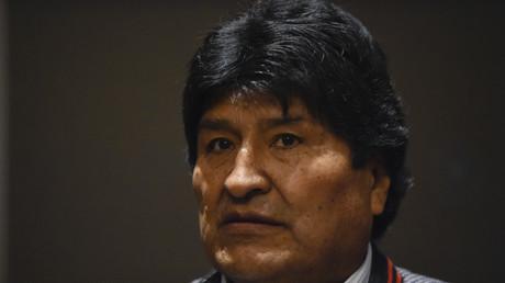 L'ancien président bolivien Evo Morales donne une conférence de presse à Mexico le 20 novembre 2019.