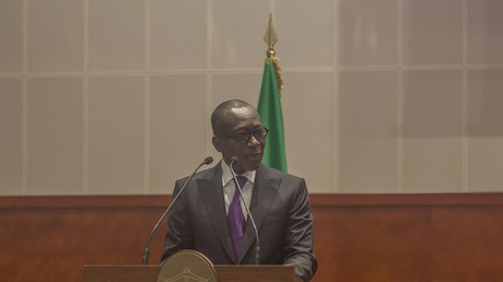 Le président béninois Patrice Talon, le 10 octobre 2019, à Cotonou (image d'illustration).