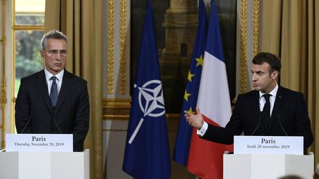 Emmanuel Macron a rencontré le secrétaire général de l'Otan Jens Stoltenberg à l'Elysée, le 28 novembre.