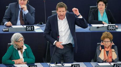 Yannick Jadot, le 19 avril 2019, au Parlement européen, à Strasbourg (image d'illustration).