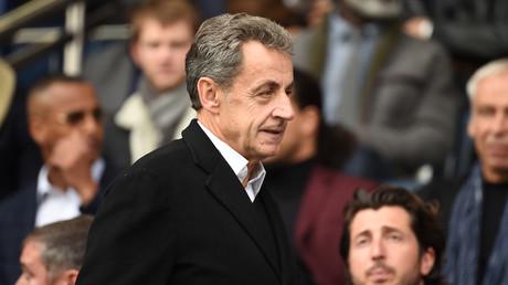L'ancien chef d'Etat, Nicolas Sarkozy, arrive au stade du Parc des Princes, le 5 octobre 2019 (image d'illustration).