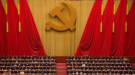 Le président chinois Xi Jinping assiste au congrès du Parti communiste chinois dans la Grande Halle du peuple, à Pékin