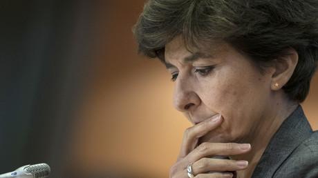 Sylvie Goulard, le 10 octobre 2019 au Parlement européen à Bruxelles, lors de son audition par les eurodéputés.