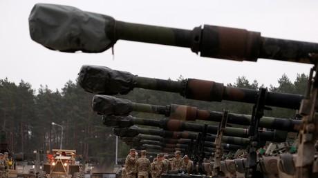 Des forces militaires américaines déployées à Drawsko Pomorskie, en Pologne, pour des exercices militaires dans le cadre de l'OTAN, en mars 2019 (image d'illustration)