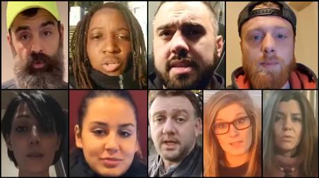 Photomontage des protagonistes de la vidéo «Rendez-vous avec l'Histoire !»