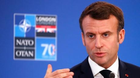 Emmanuel Macron en conférence de presse le 4 décembre, à l'issue du sommet de l'OTAN près de Londres.