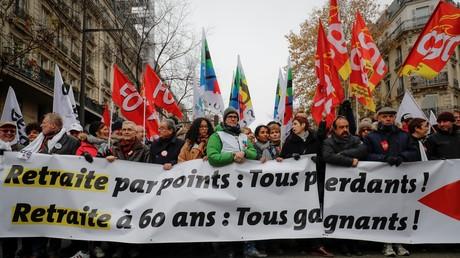 Le cortège parisien du 5 décembre.