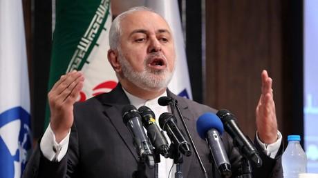 Le ministre iranien des Affaires étrangères, Javad Zarif, le 21 octobre 2019, dans une université de Téhéran, en Iran (image d'illustration).