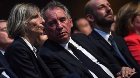 François Bayrou, en compagnie de Marielle de Sarnez, le 24 mai 2019, à Paris (image d'illustration).