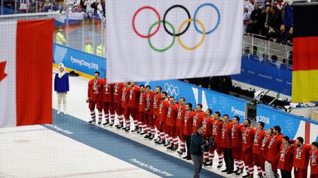 Les athlètes russes lors des JO à Pyeongchang en 2018