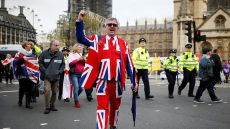 Une manifestation pro-Brexit à Londres, octobre 2019