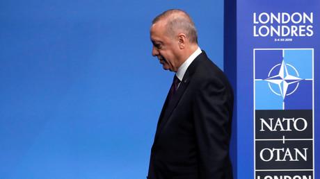 Le président turc Recep Erdogan lors du sommet de l'OTAN à Londres, le 4 décembre.