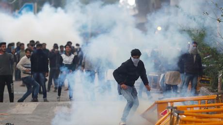 Heurts lors d'une manifestation le 14 décembre à New Dehli.