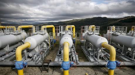 Station de compression de gaz près du village de Volovets, dans l'ouest de l'Ukraine, photographiée le 7 octobre 2015 (illustration).