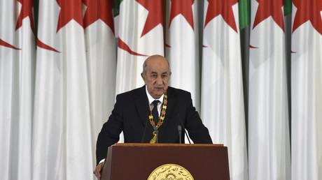 Abdelmadjid Tebboune prononce son premier discours en tant que président de la République algérienne, le 19 décembre 2019.