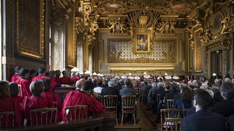 Cérémonie officielle de la première audition de la Cour de cassation au palais de justice de Paris le 14 janvier 2019. Photo d'illustration.