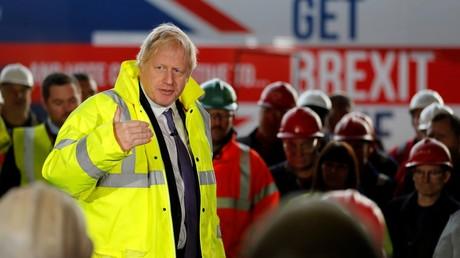 Le Premier ministre Boris Johnson en campagne pour les élections législatives, le 20 novembre 2019 (image d'illustration)