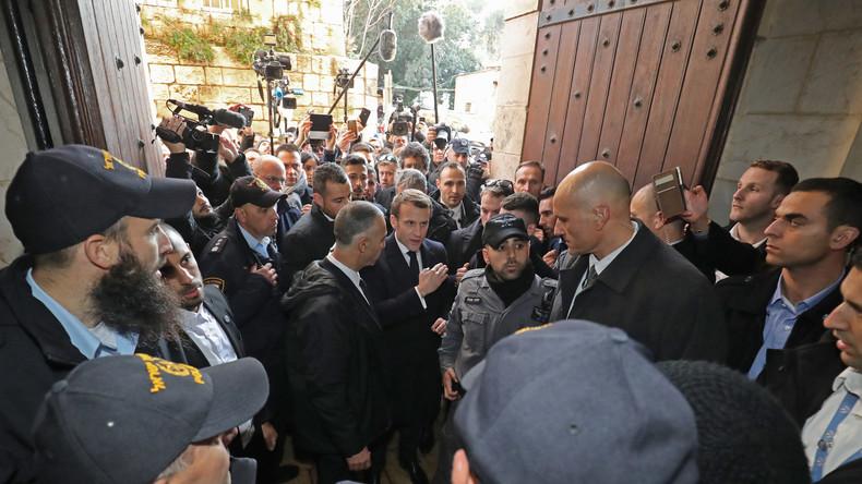 «Chirac du pauvre» : l'opposition moque Emmanuel Macron après son altercation verbale à Jérusalem
