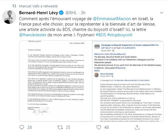 Biennale de Venise : pointée du doigt par le CRIF, la représentante de la France condamne le BDS