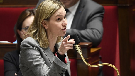 La secrétaire d'Etat de l'Economie et des Finances, Agnes Pannier-Runacher, s'exprime lors d'une séance de questions au gouvernement à l'Assemblée nationale française, le 12 novembre 2019.