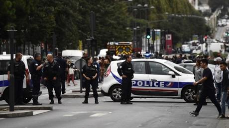 Des policiers interviennent à Villejuif, le 6 septembre 2017, dans le Val-de-Marne (image d'illustration).