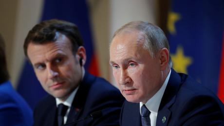 Le président français Emmanuel Macron et son homologue russe Vladimir Poutine.