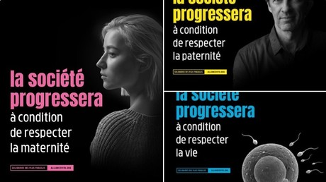 Des publicités de l'association Alliance Vita, ouvertement anti-IVG et anti-PMA, affichées dans plusieurs gares parisiennes, sont dans le viseur de Anne Hidalgo.