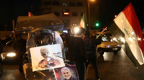 Lors des funérailles de Qassem Soleimani le 8 janvier 2020 à Téhéran (image d'illustration).