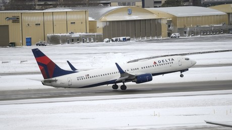 Un avion décolle de l'aéroport de Minneapolis, le 27 novembre 2019, aux Etats-Unis (image d'illustration).