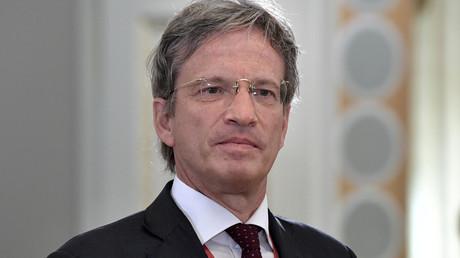 Le président-directeur général (PDG) de l'Agence France-Presse, Fabrice Fries, le 6 juin 2019, lors de la 23e édition du Forum économique international de Saint-Pétersbourg, en Russie (image d'illustration).