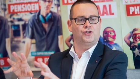 Raoul Hedebouw, le 27 mai 2019, à Bruxelles, en Belgique (image d'illustration).