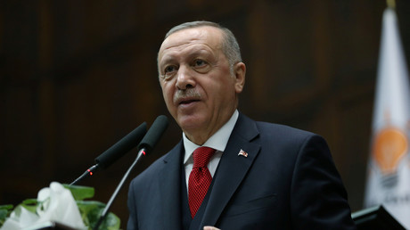 Le président turc Erdogan à Ankara, le 14 janvier (image d'illustration).