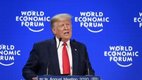 Donald Trump lors de son discours au Forum économique de Davos, le 21 janvier 2020.