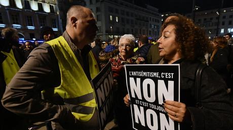 Des manifestants contre l'antisémitisme, le 19 février, à Marseille. (Photo d'illustration)