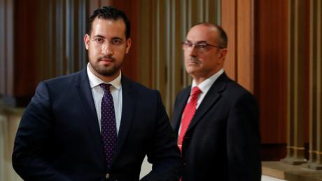 Alexandre Benalla lors d'une audition devant la commission d'enquête du Sénat, le 19 septembre 2018 (image d'illustration).