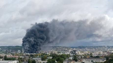 L'incendie de Lubrizol, à Rouen, le 26 septembre 2019 (image d'illustration).