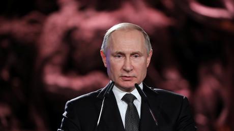 Vladimir Poutine, le 23 janvier 2020 à Jérusalem.