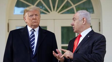 Le président américain Donald Trump au côté du Premier ministre israélien Benjamin Netanyahou à Washington, le 27 janvier 2020.