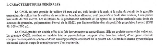 La grenade GM2L «ne projette aucun éclat vulnérant», vraiment ?