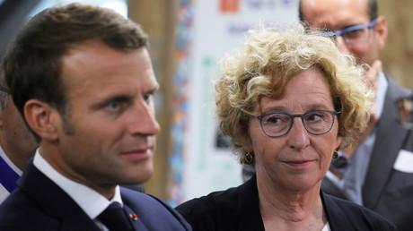 Emmanuel Macron et Muriel Pénicaud à Bonneuil-sur-Marne, le 10 septembre 2019 (image d'illustration).