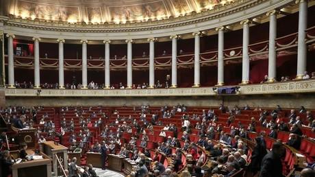 L'hémicycle de l'Assemblée nationale à Paris (illustration).