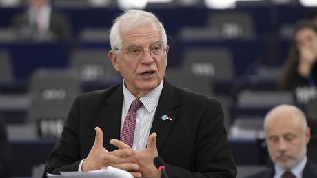 Le haut représentant de l'Union européenne pour les Affaires étrangères et la politique de sécurité, Josep Borrell lors d'un discours au Parlement européen à Strasbourg (Bas-Rhin), le 14 janvier 2020.